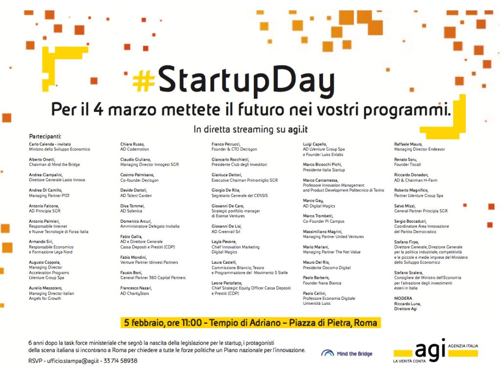 StartupDay Rome Feb 5th